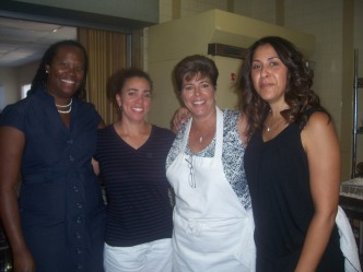 Pam Lightburn, Melanie, Jackie Williams and Robin